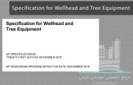 Specification for Wellhead and Tree Equipment-مشخصات تجهیزات سرچاهی API 6A