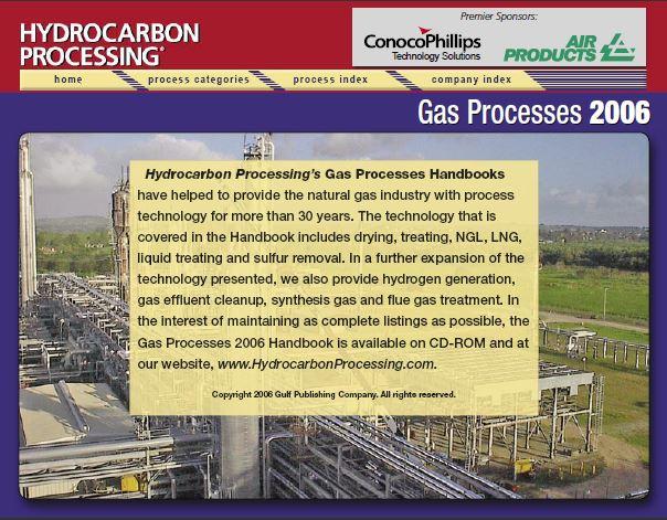 Gas Processes 2006