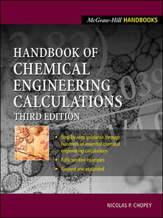 هندبوک محاسبات مهندسی شیمی