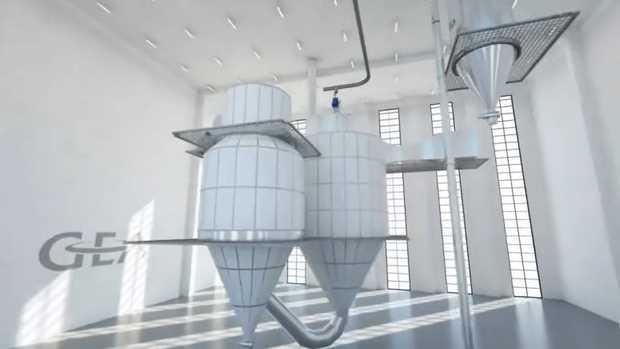 انیمیشن خشک کن پاششی (spray dryer animation)
